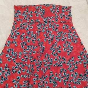 Lularoe Azure floral A-line stretchy skirt medium